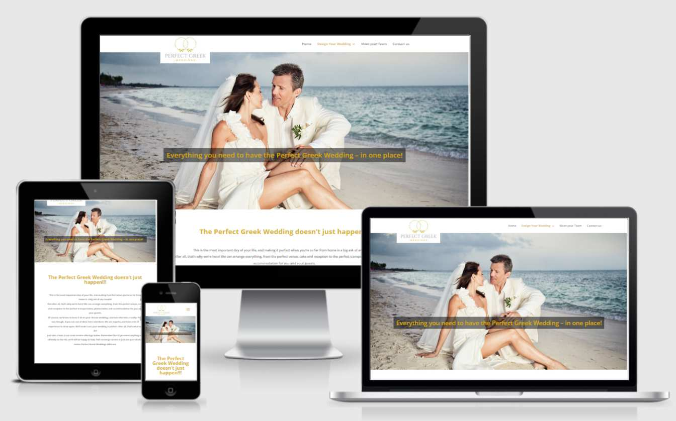 Κατασκευή Ιστοσελίδας για wedding planner